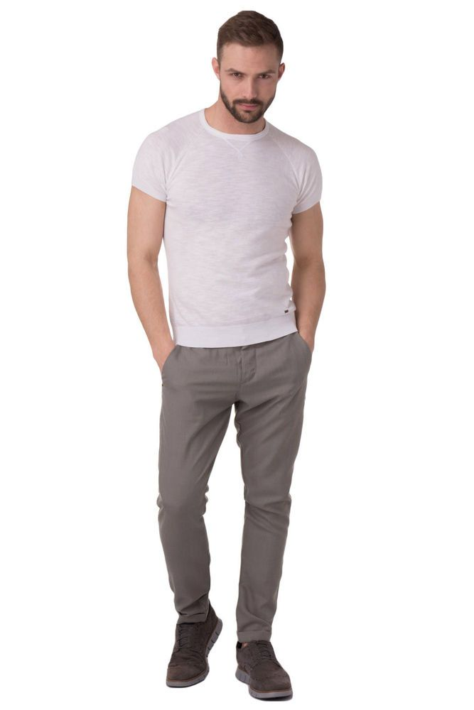 e92a5083bd5 New Mens Chino Trousers LIU JO UOMO Lightweight Made in Italy Size 46 / S  SS17
