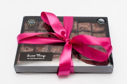 """These mini brownies are tasty, not too expensive, and there's enough of them that you'll probably get away with eating one yourself once you've handed over the present."" Jon Wood, Developer (£18.75, Sweet Things)"