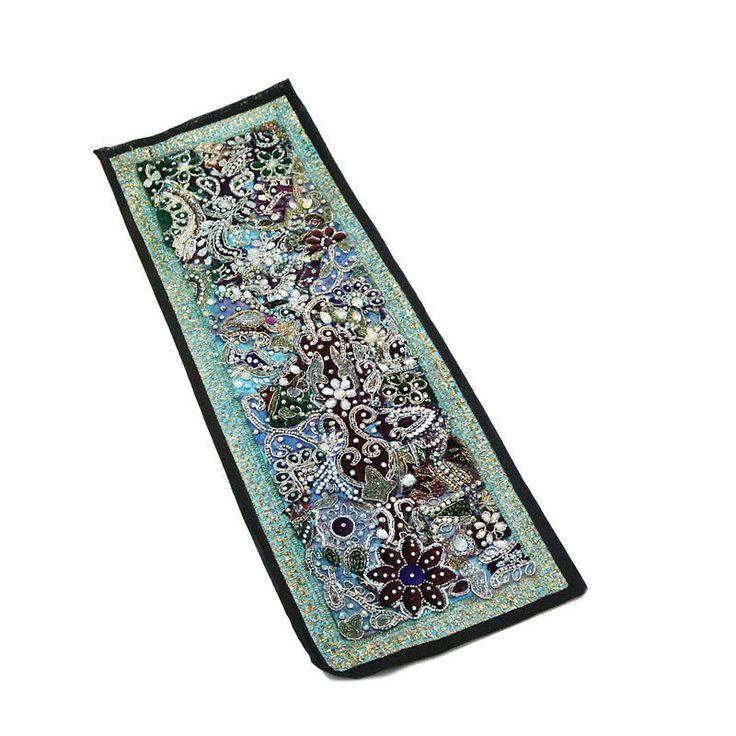 "30X10"" Indian Cotton unique design Kundan Patchwork Home Decor Antique Tapestry  #Namasteart #AntiqueStyle"