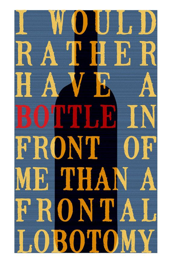 Cocktail Poster, Tom Waits, Bar Art, Poster Design, Tom Waits Quote