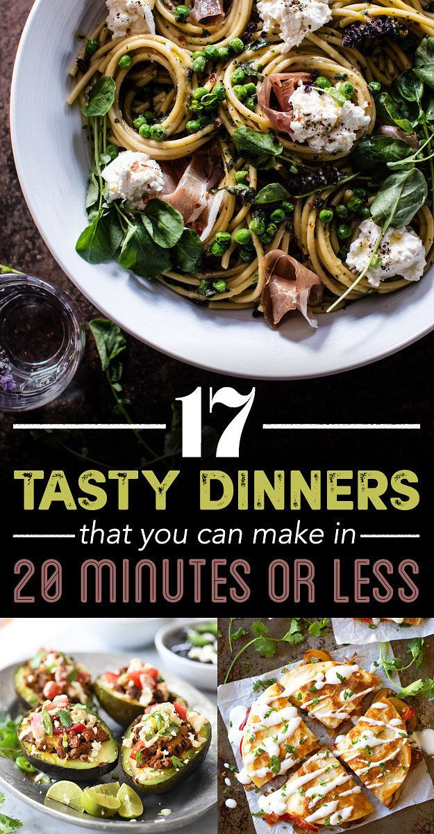 17 Dinners You Can Make In 20 Minutes Or Less