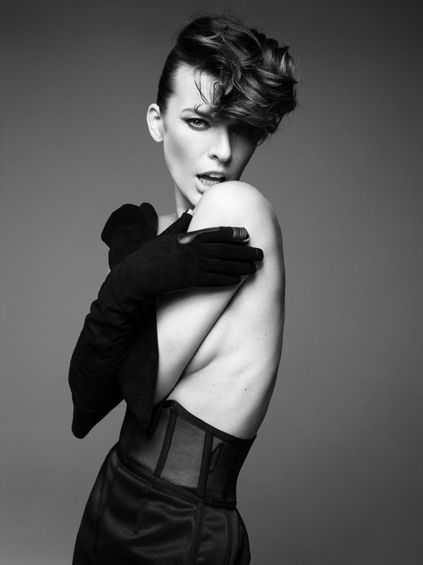 Milla Jovovich Hunger Portrait Fashion