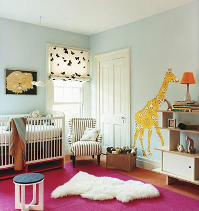 fabric wall covers (giraffe): Wall Colors, Babies, Blue Wall, Baby Rooms, Girls Nurseries, Nurseries Ideas, Animal, Giraffes, Kids Rooms