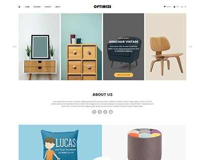 """Check out new work on my @Behance portfolio: """"Optimize - Minimalist Ecommerce Template"""" http://be.net/gallery/53570187/Optimize-Minimalist-Ecommerce-Template"""