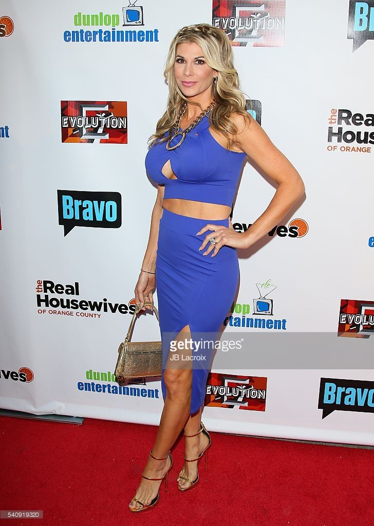 Alexis Bellino attends the premiere party for Bravo's 'The Real Housewives of Orange County' 10 Year Celebration at Boulevard3 on June 16, 2016 in Hollywood, California.