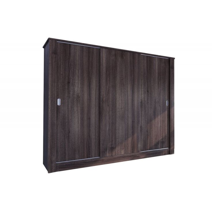 Ντουλάπα ρούχων τρίφυλλη ANTIQUE 2 σε χρώμα καφέ 220x58x190