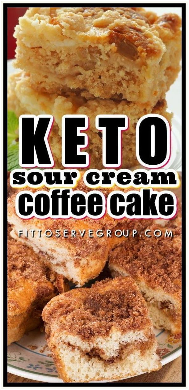Keto Streusel Sour Cream Coffee Cake In 2020 Keto Dessert Recipes Keto Recipes Easy Ketogenic Desserts