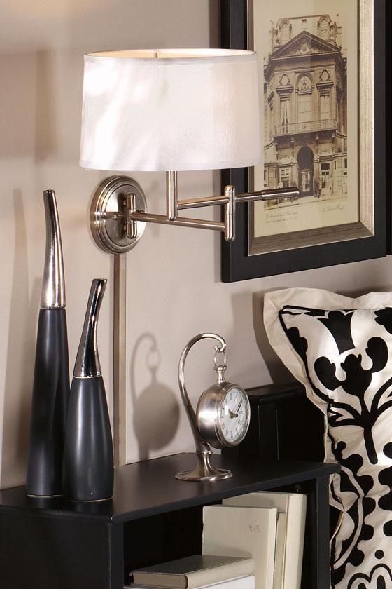 Pivoting Swing Arm Pin Up Lamp   Wall Lamps   Wall Lighting   Lighting