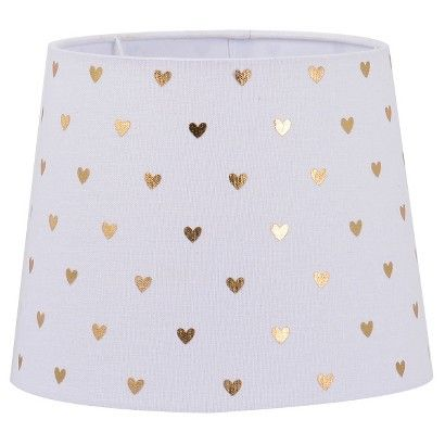 Gold Heart Lampshade