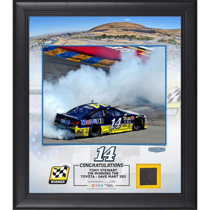 """Tony Stewart Fanatics Authentic 2016 Toyota Save Mart - 350 Race Winner Framed 15"""" x 17"""" Collage with Race-Used Tire"""