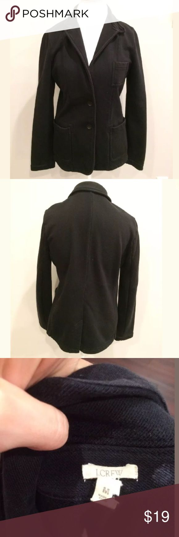 J.CREW Black Sweatshirt Medium Heavy Weight Blazer Medium/heavy weight semi casual blazer / warm, clean and smoke free home, no holes or stains J. Crew Jackets & Coats Blazers
