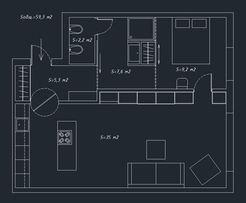 Space Saving Apartment by Oleg Trofimov in interior design  Category