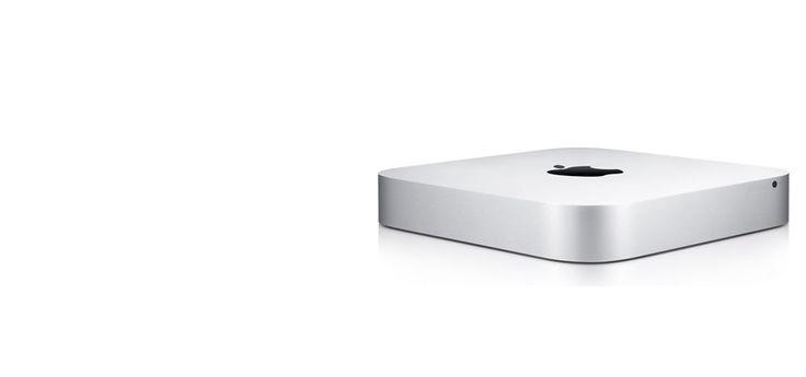 En el Mac mini, el adaptador de corriente se encuentra dentro de la carcasa, con lo cual se eliminan los problemas de cableado. Por medio de su panel extraíble en la parte inferior, permite sustituir de una manera fácil la memoria por una de más capacidad de acuerdo a las necesidades del usuario.