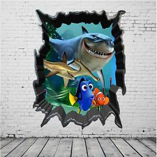 Finding Nemo Dory 3D View Art Wall Stickers Decals Home Kids Room Decor #Findingdory #Disney #Art #Pixar #3d