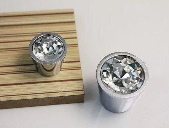 Clear Crystal Knob Glass Knobs Drawer Pulls Dresser Knobs Kitchen Cabinet Knob Pull
