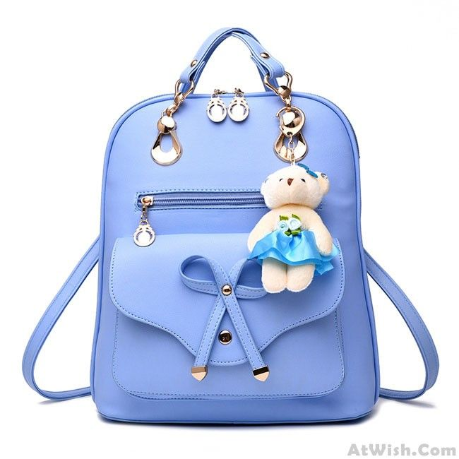 Wow~ Awesome  Casual Multifunction Bow-knot Shoulder Bag College Rucksack Pu Bow…