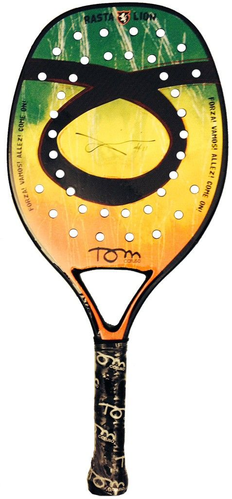 Racchetta Beach Tennis Tom Caruso Rasta Lion 2014 Limited Edition - Racchette Beach Tennis e Accessori