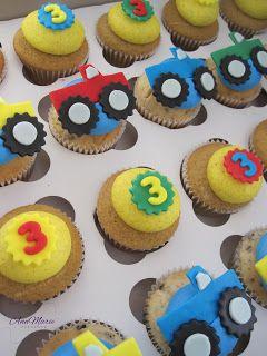 Monster Truck Cupcakes (Jeremiah's 2nd Birthday)