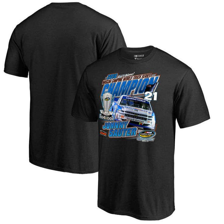 Johnny Sauter 2016 Camping World Truck Series Champion T-Shirt - Black