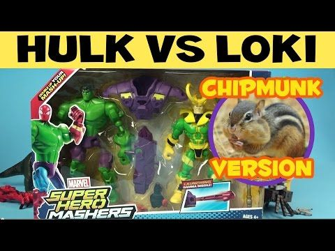 Hulk vs. Loki: Mash Pack Unboxing (Superhero Mashers) Hulk - Chipmunk Version - YouTube