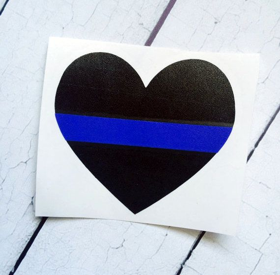 Thin Blue Line Police Heart Decal, Police Wife Decal, Police Girlfriend Decal, Thin Blue Line Decal