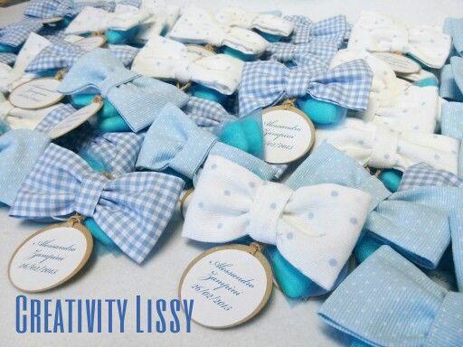 Piccoli papillon come portaconfetti per la nascita di Alessandro... Seguimi anche sulla pagina facebook 'Creativity Lissy'!