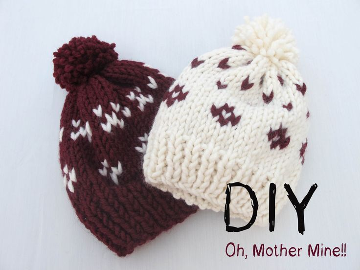 DIY Como hacer gorros de lana con dos agujas | Knitted pom pom beanie tutorial.