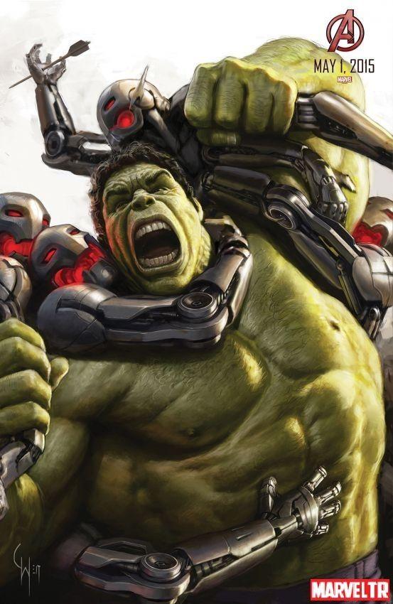Charlie Wen tarafından Hulk konsept sanatı çizimi Yenilmezler:Ultron Çağı