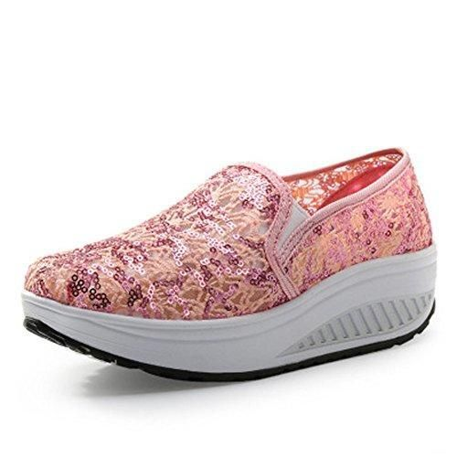 Oferta: 19.89€ Dto: -57%. Comprar Ofertas de Zapatos de Mujer Plataforma Malla Andar Deporte Zapatilla de Deporte Running Zapatillas Sacudir Casual Zapatos Height-increas barato. ¡Mira las ofertas!