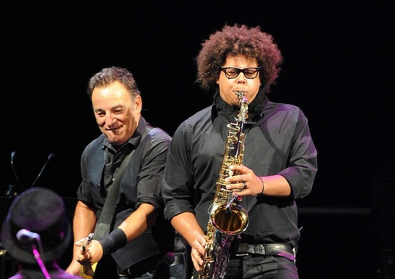 The Boss at work! Bruce Springsteen live - Rod Laver Arena, Melbourne, Tuesday, 26 March 2013, with Jake Clemons, nephew of the legendary (and much missed) Clarence. Best concert EVER!