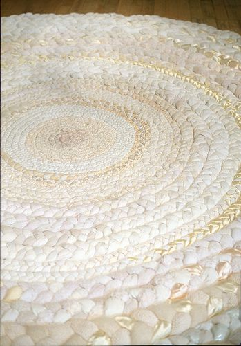 Mandy Greer rag rug: snowy white rag rug