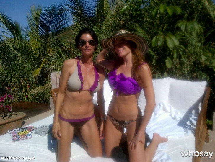 Pin for Later: Sofia Vergara Knows Her Way Around a Bikini  She showed off her fit form with a pal while in Mexico in December 2011. Source: Who Say user Sofia Vergara