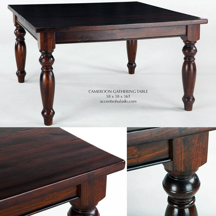 SOLID WOOD Tuscan Dining Room Tables CAMEROON GATHERING TABLE For Old World Rooms