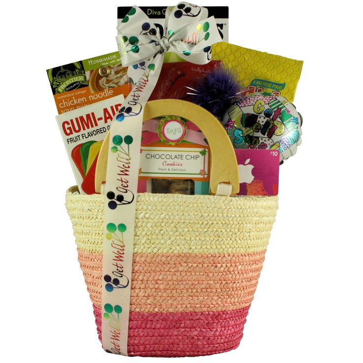Tween Fashion Therapy Girl's Get Well Gift Basket, Brown