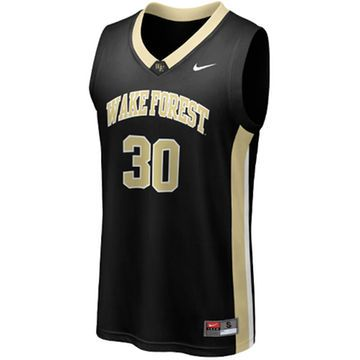 Nike Wake Forest Demon Deacons #30 Replica Basketball Jersey - Black