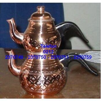 Bakır Çay Demlik Takımı Satış Telefonu 0212 2370750 Bakır çay demlik takımı 0212 2370749
