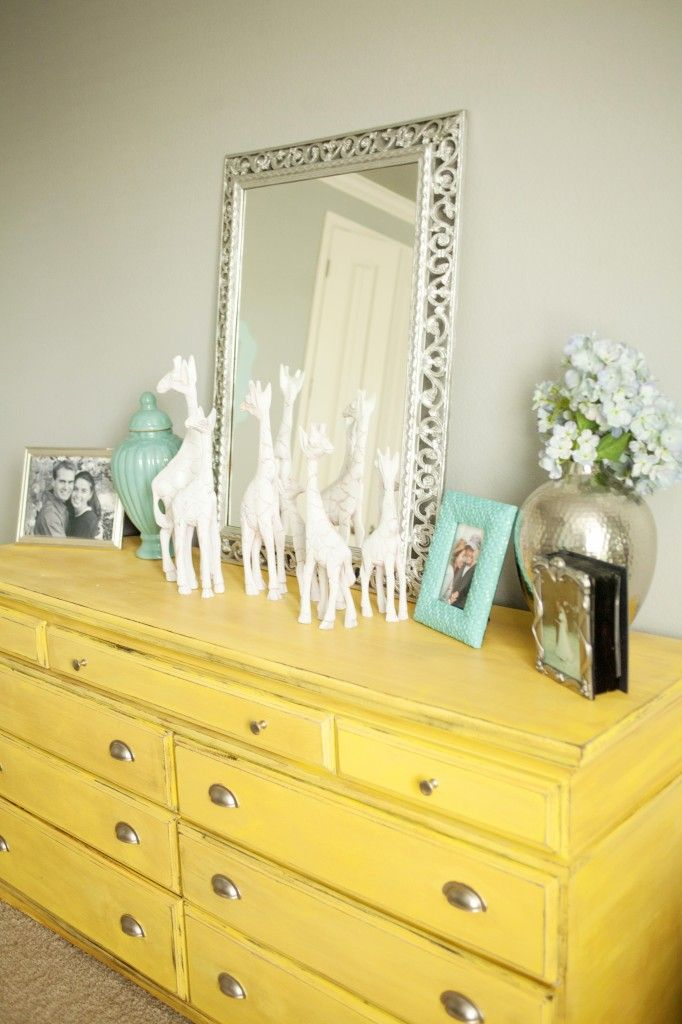 Master Bedroom Makeover Distressed Dresser Distressed Furniture And Ceramic Birds