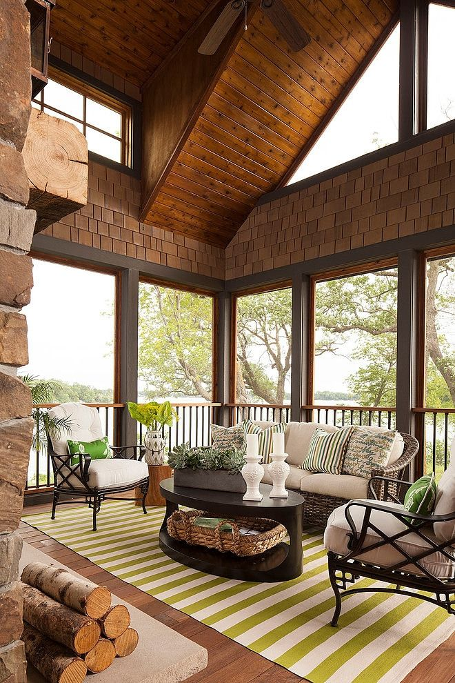 Screen Porch      Palmer Pointe Road Residence By Martha Ou0027Hara Interiors Amazing Pictures