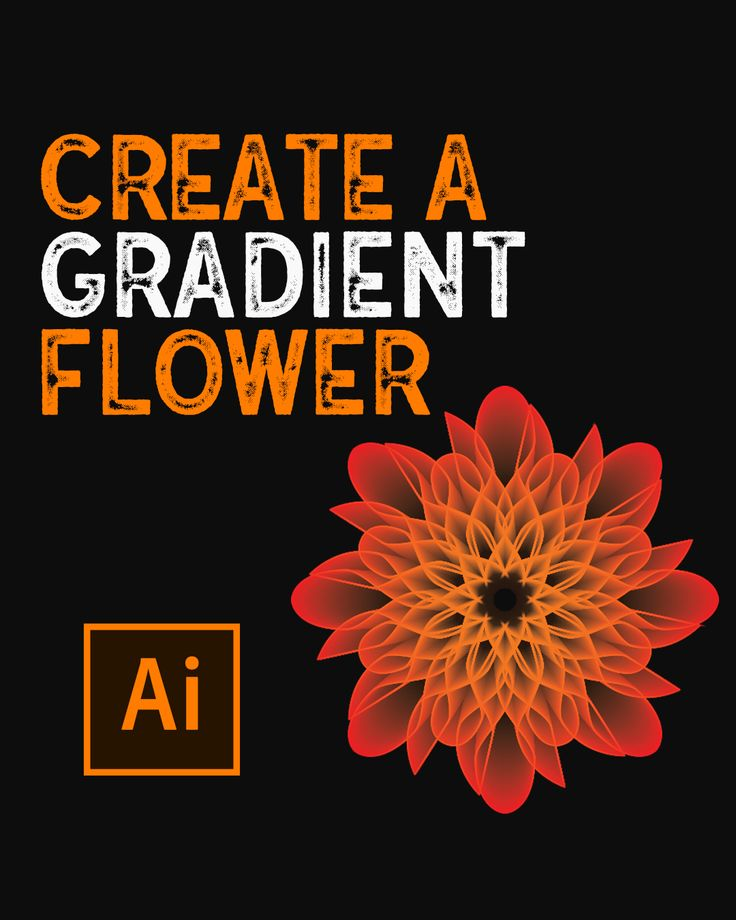 How to create a gradient flower in illustrator video in