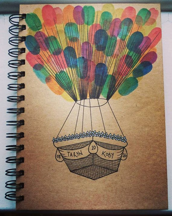 Personalised Hot Air Balloon Notebook A5. Perfect by RollinsonArt