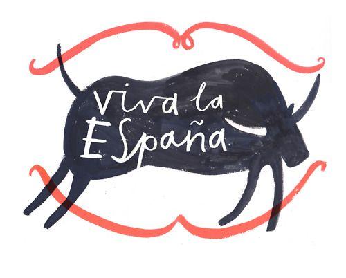 Viva la Espana: Hands Drawn Graphics, La España, Viva Espana, Patterson Maker, Hands Types, Graphics Design, La Espana, Charlotte Trounce, Spain Travel