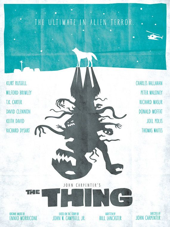 "Great poster for John Carpenter's ""The Thing"""
