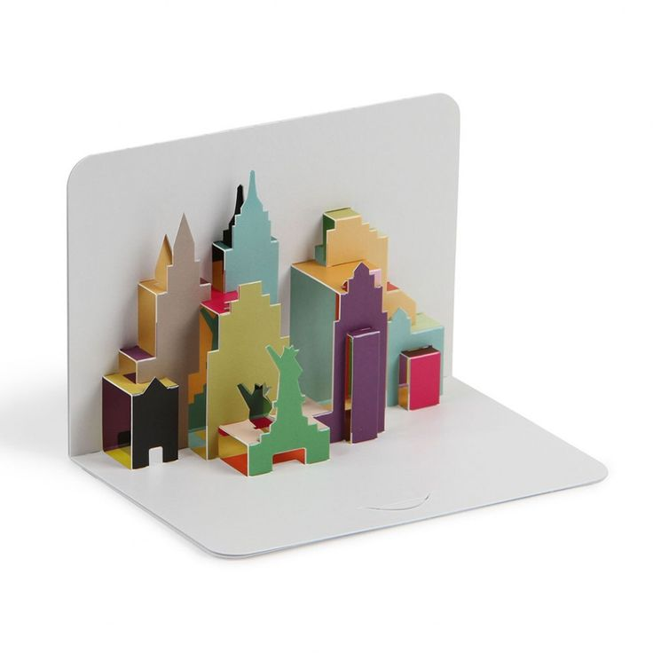 new york city skyline 3d pop up card paperchase pop. Black Bedroom Furniture Sets. Home Design Ideas