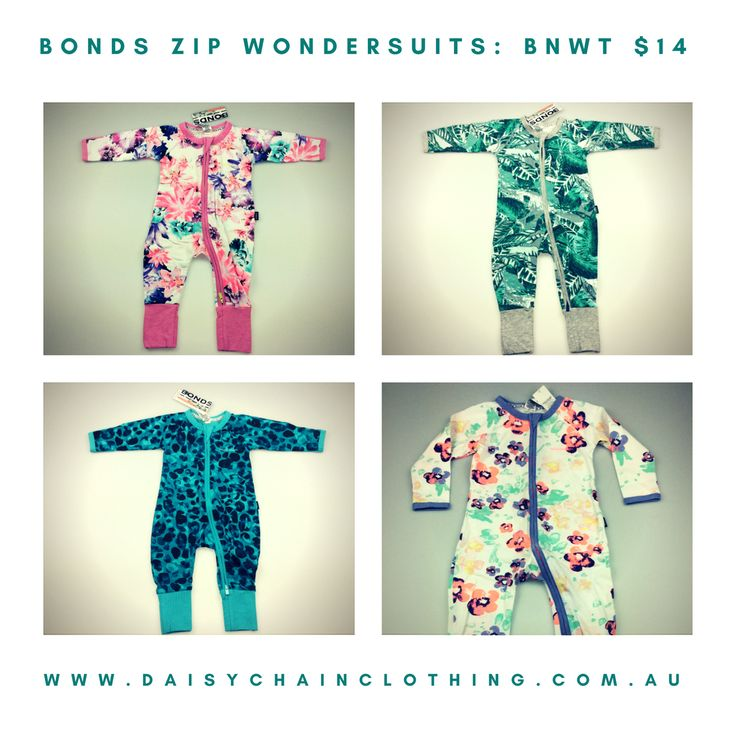 BONDS Zip Wondersuits BNWT $14 (RRP $24.95)  Visit daisychainclothing.com.au for a variety of new & pre-loved children's clothing