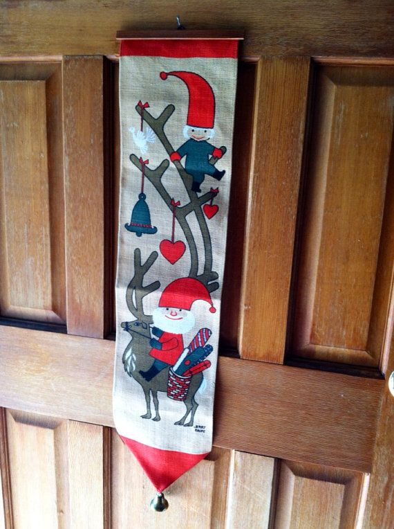 Vintage 1960's Jerry Roupe Christmas Wall Hanging