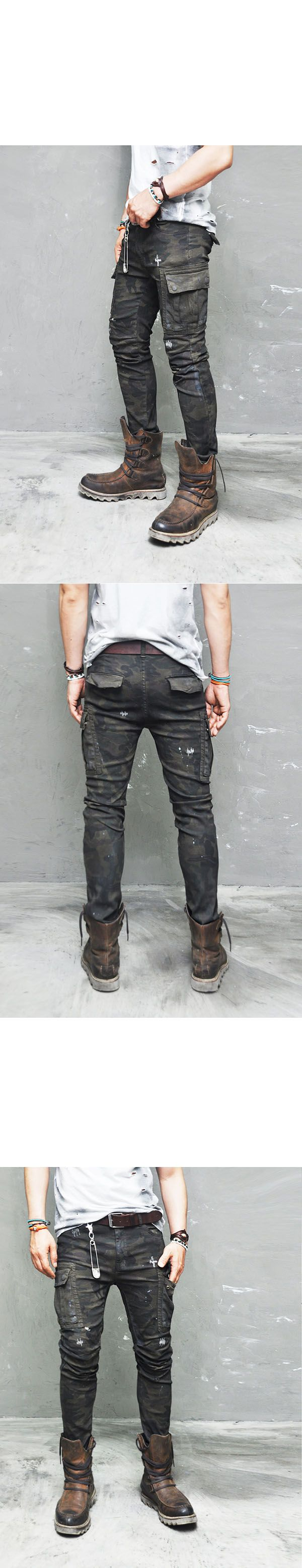 www.GUYLOOK.com     Get It Now                  REAL VINTAGE OIL WASH RUGGED CAMO CARGO PANTS-PANTS 130 BY GUYLOO...