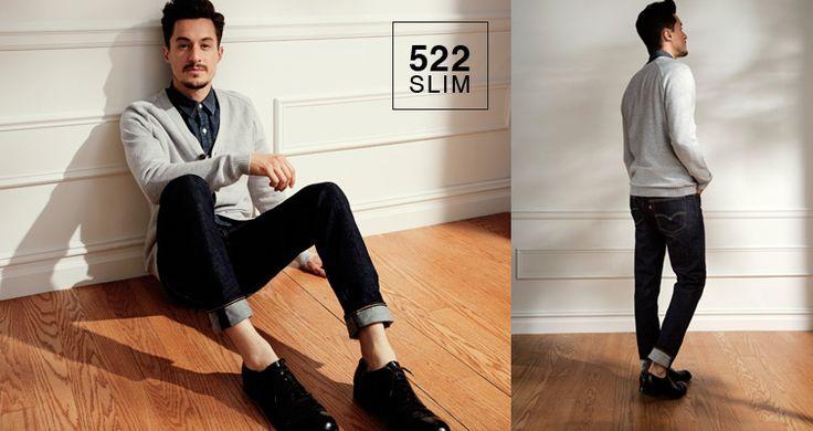 #jeansshop #jeansshopcom #levis #leviscollection #fallwinter14 #fw14 #shirt #denim #522 #slim