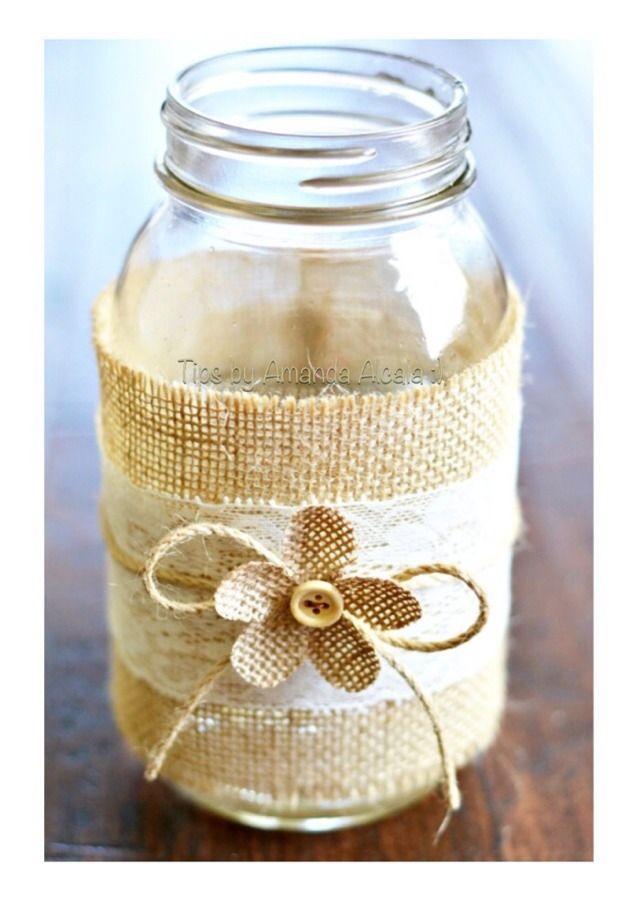 ❤️DIY Lace And Burlap Mason Jars!!❤️ #tipit