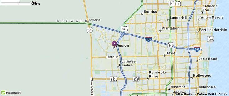 Distance from Weston, FL to Miami, FL - travelmath.com