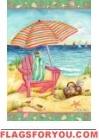 Beach Chair Garden Flag